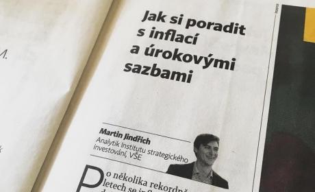 Institute in Hospodarske noviny on topic Inflation