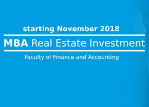 První MBA zaměřené na oceňování a investice do nemovitostí v ČR se otevírá na FFÚ